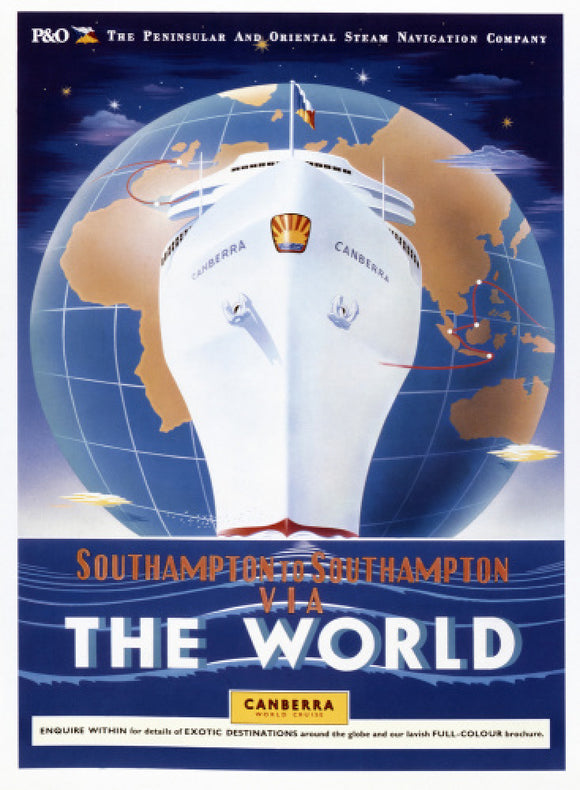 Southampton to Southampton via the World