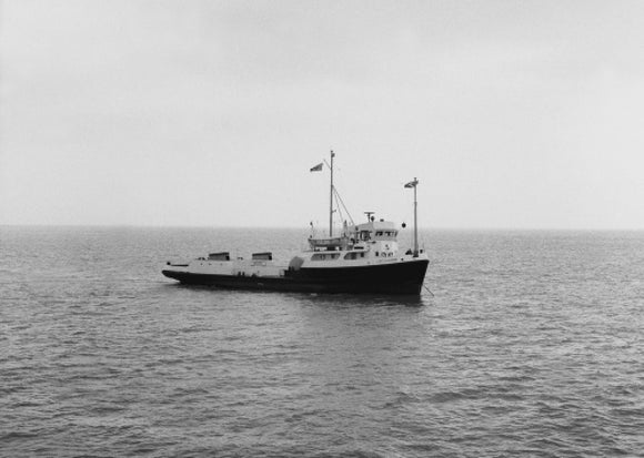 LADY CLAUDINE at anchor