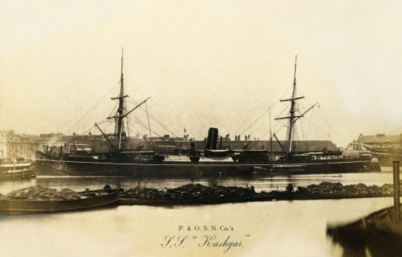 KASHGAR (1874) in port
