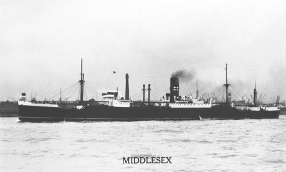 MIDDLESEX in harbour