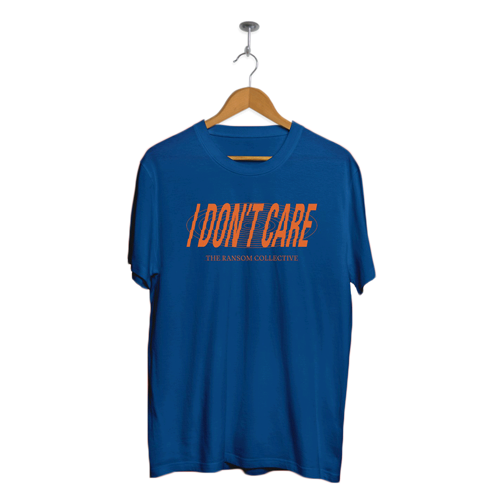 TRC I Don't Care Text shirt (Blue)