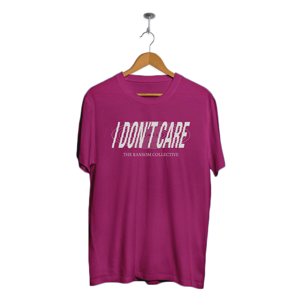 TRC I Don't Care Text shirt (Pink)