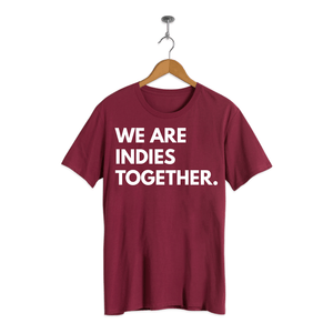 JXP Indies Together shirt (Maroon)