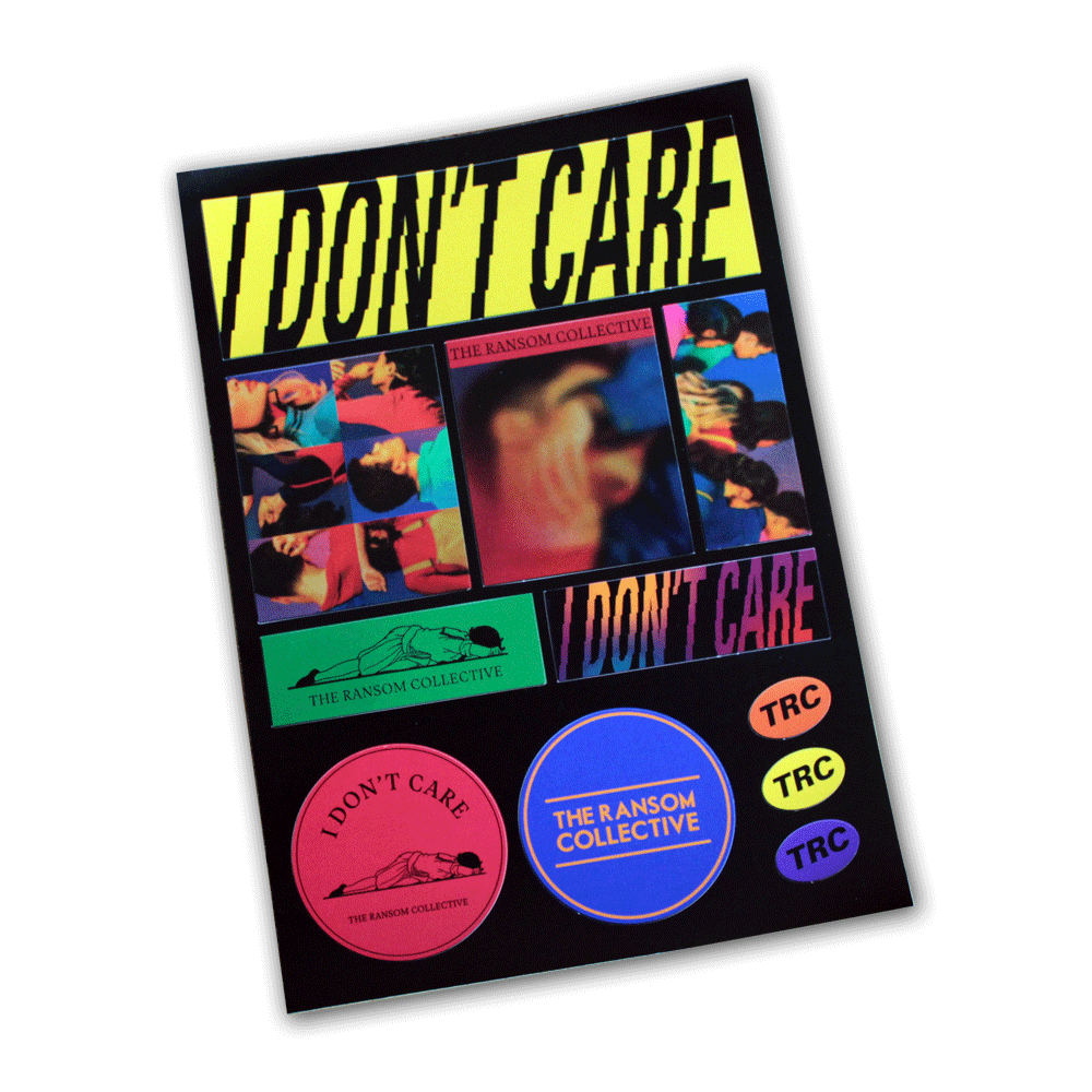 TRC I Don't Care sticker pack