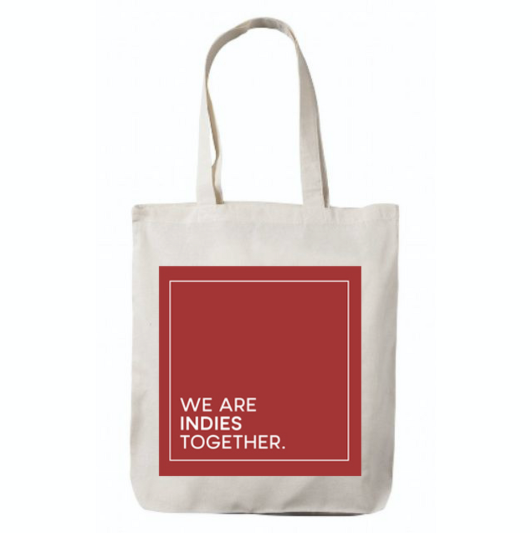 JXP We Are Indies Together Tote Bag (Red)