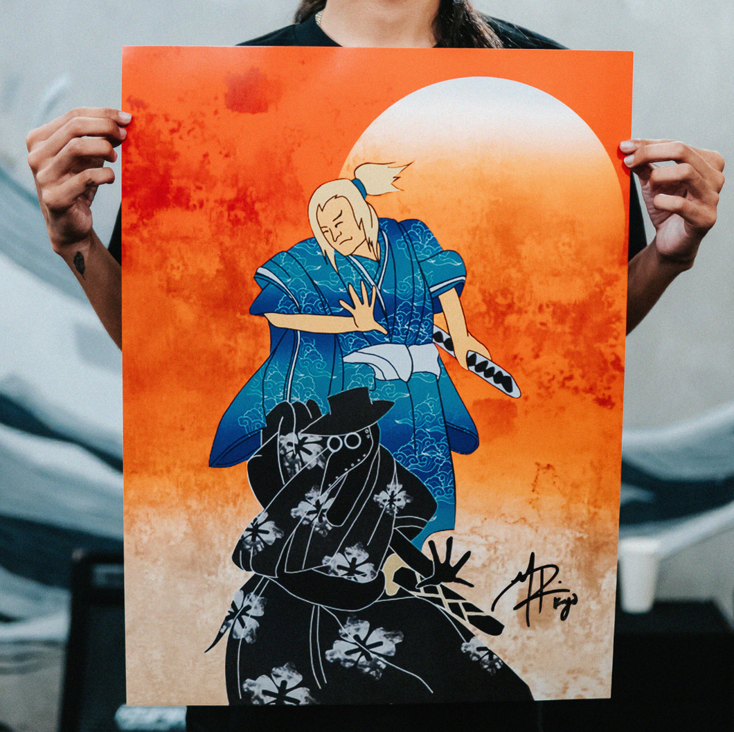 Kiyo Nakama signed poster (Available on-site only)