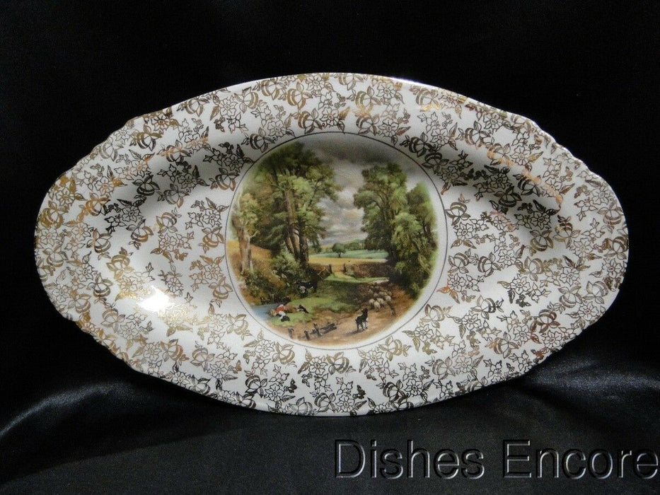 "Lord Nelson, England, Constable ""The Cornfield"": Relish Dish 12 5/8"", Crazing"
