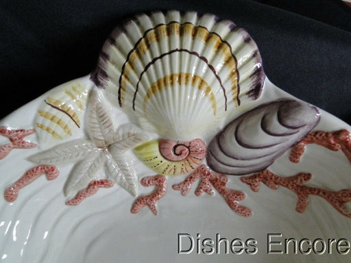 "Fitz & Floyd Coral Shells Multicolor, Shell Shape: Figurine Server 17"" x 13"""