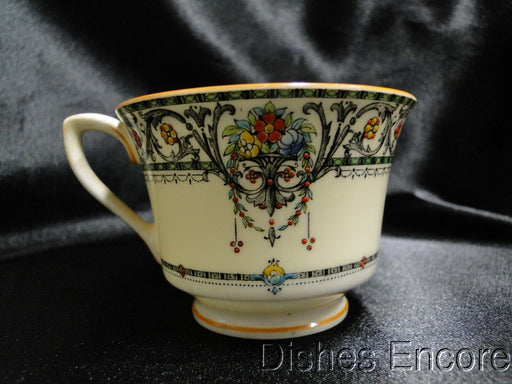 Royal Worcester Chantilly, #Z141/5, Flowers, Scrolls: Demitasse Cup & Saucer Set