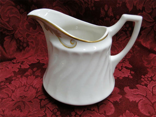 Syracuse Baroque, Gray & Gold Scrolls, Swirl Rim: Creamer / Cream Pitcher