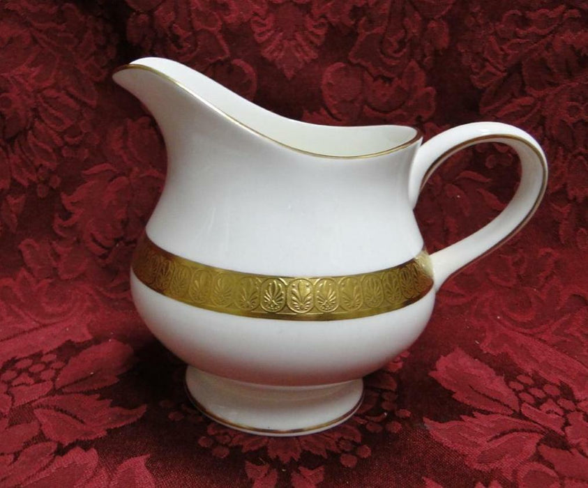 Wedgwood Adelphi, White w/ Gold Encrusted Verge: Creamer / Cream Pitcher