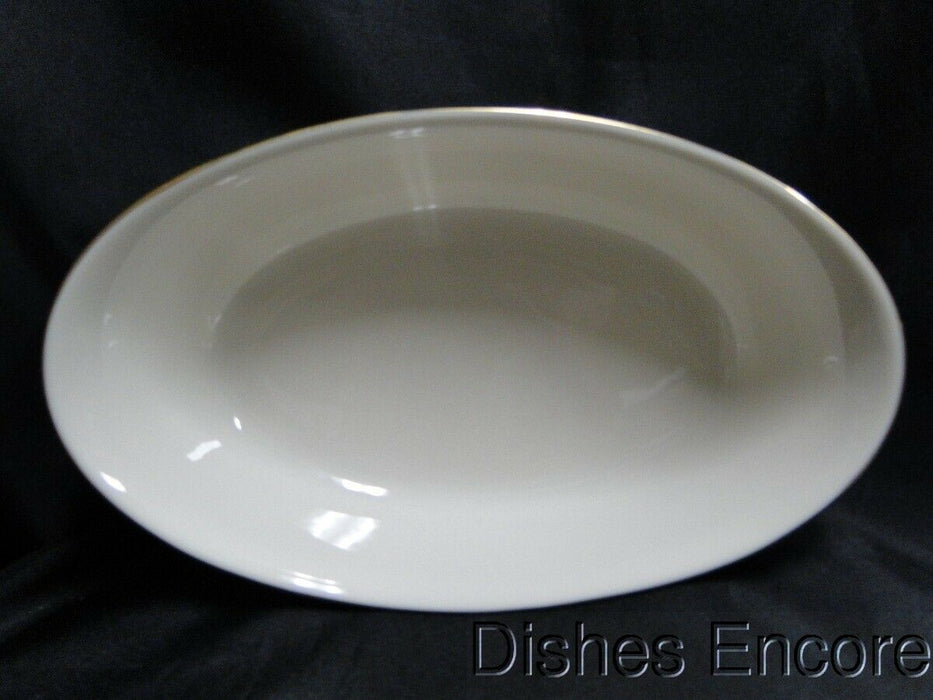 Lenox Eternal, Ivory with Gold Trim: Flared Oval Serving Bowl 10 3/8""