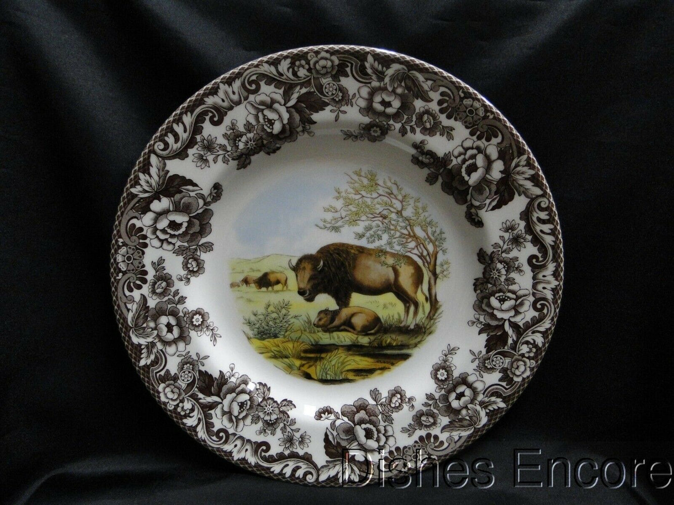 "Spode Woodland Bison, England: NEW Dinner Plate (s), 10 3/4"", Box"