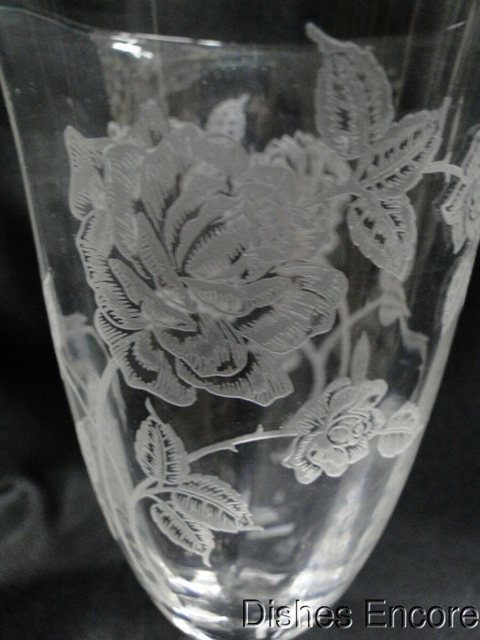 Heisey, Heisey Rose, Etched: Iced Tea Goblet (s) 6 3/4""