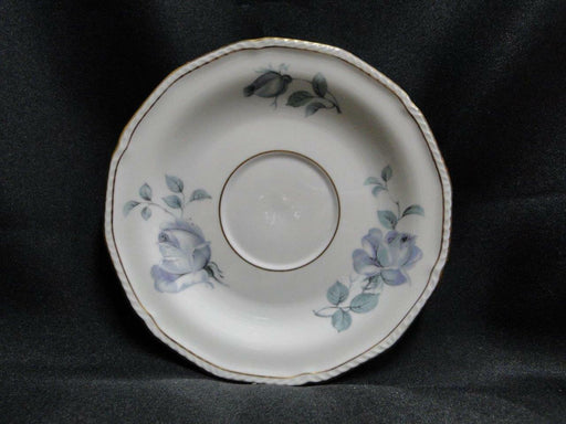 "Royal Tettau Damask Rose, Blue / Green Roses: 5 3/4"" Saucer (s) Only - No Cup"