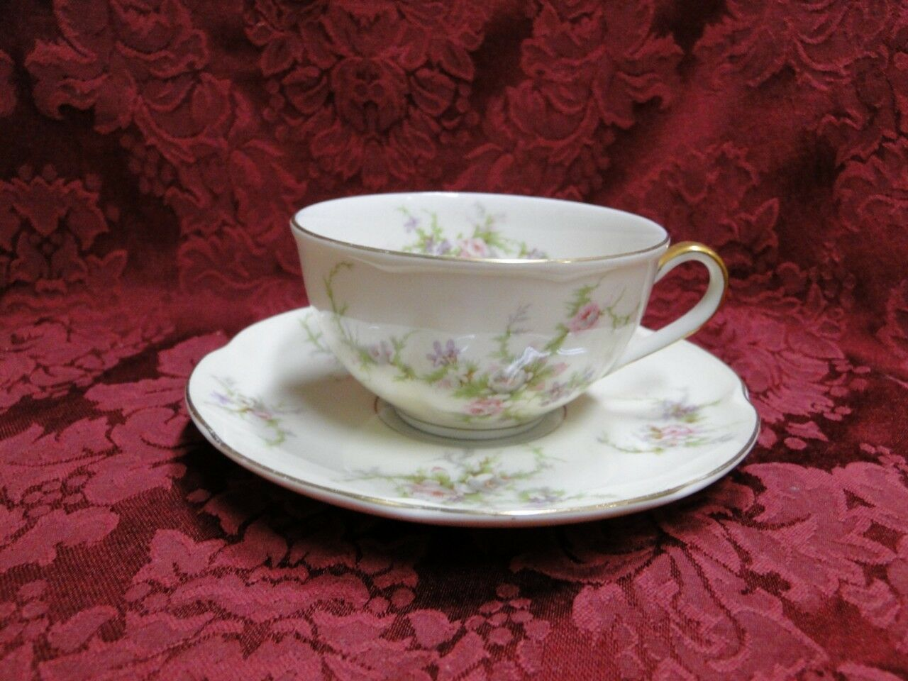 Haviland (New York) Rosalinde Floral: Cup and Saucer Set (s)