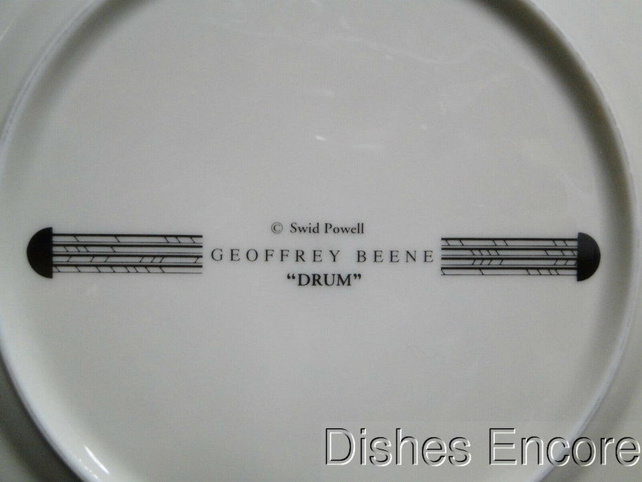 Swid Powell Drum Apple, Green Rim, Geoffrey Beene: Salad Plate (s), 7 3/4""