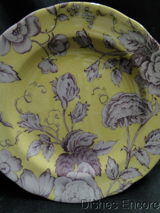 Spode Kingsley, Plum Florals on Ochre, England: NEW Salad Plate (s), 7 1/2""