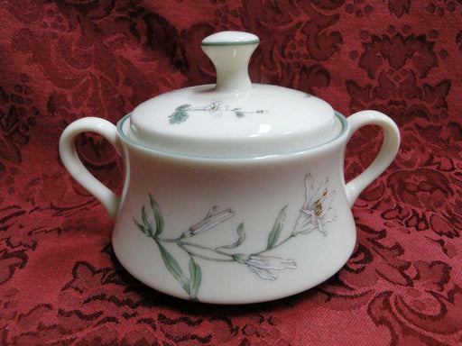 Gorham Melrose, Town and Country, Green Trim: Sugar Bowl w/Handles & Lid 3 3/8""