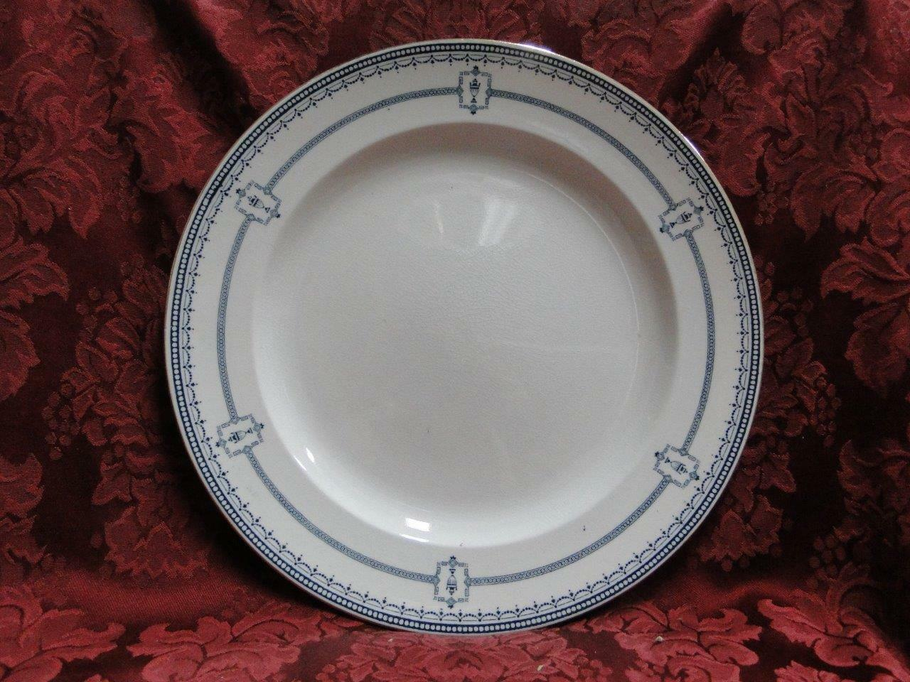Royal Doulton Mina, Dark Blue Swags, Circles, Urns: Dinner Plate (s), 10.25""