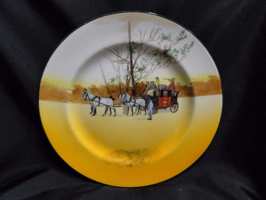 "Royal Doulton Coaching Days, Mail Coach & Bugler: Dinner Plate, 10.25"", Scene 3a"