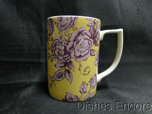 "Spode Kingsley, Florals & Bird on Ochre, England: NEW Mug (s), 4 1/4"", 12 oz"