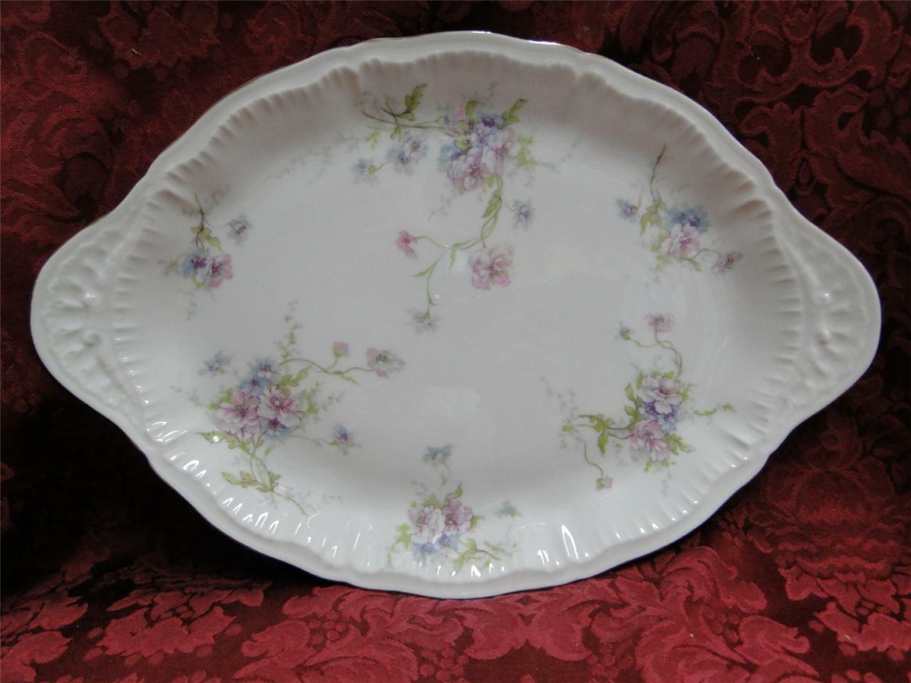Haviland (New York) Annette, Pink & Blue Flowers: Platter 12""