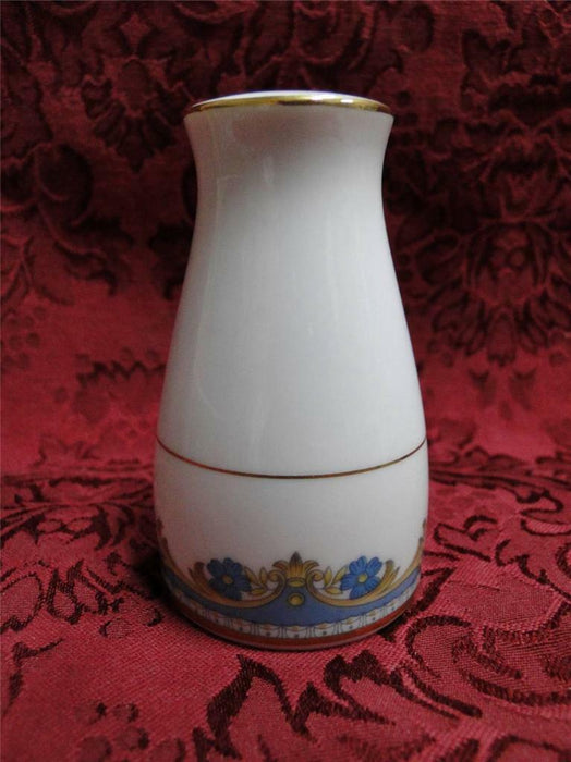 "Noritake Blue Flowers, Gold Leaves & Trim: Pepper Shaker (s), 3 Holes 3.25"" Tall"