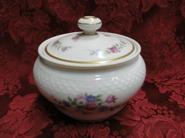 Thomas China 7211, Versailles White, Floral: Sugar Bowl w/ Lid