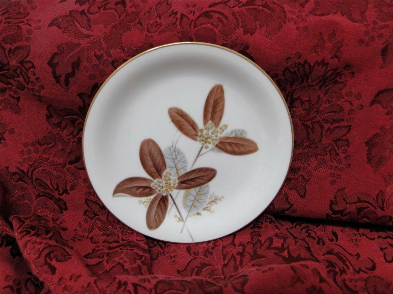 Noritake Nuana, 5129, Large Brown & Gray Leaves: Bread Plate (s), 6.25""