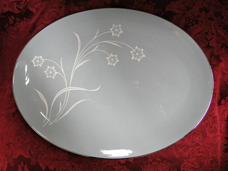 Flintridge Reverie Strata Blue Serving Platter 14""