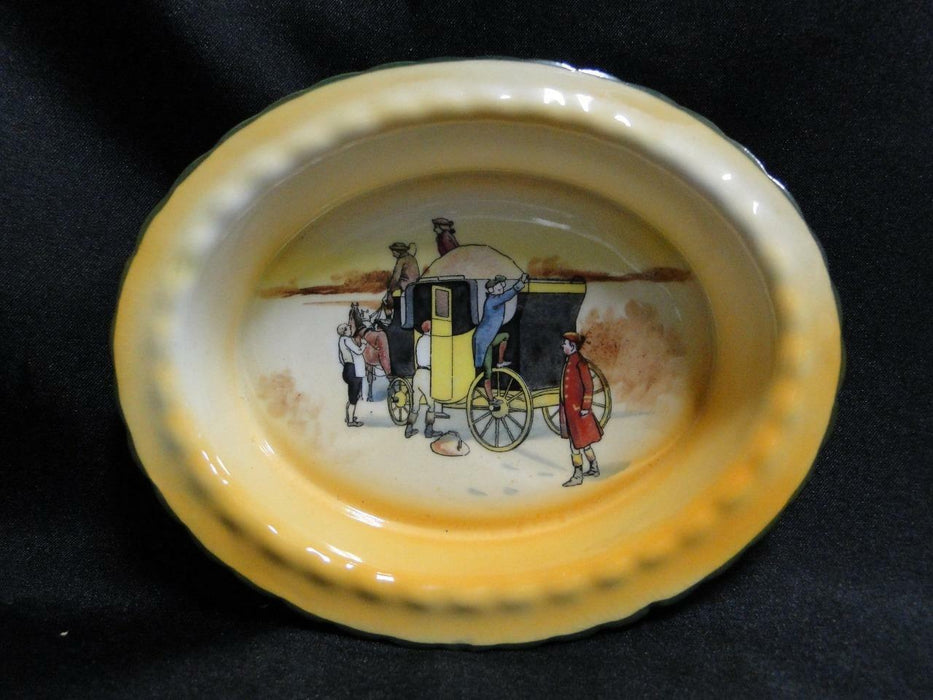 "Royal Doulton Coaching Days, Climbing onto a Stagecoach: Nut Dish, 5 5/8"", 16d"