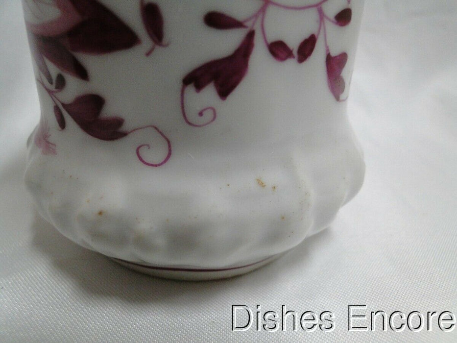 "Pink Onion Patterned Porcelain Round Lidded Container (s) 4 1/2""  AS IS"