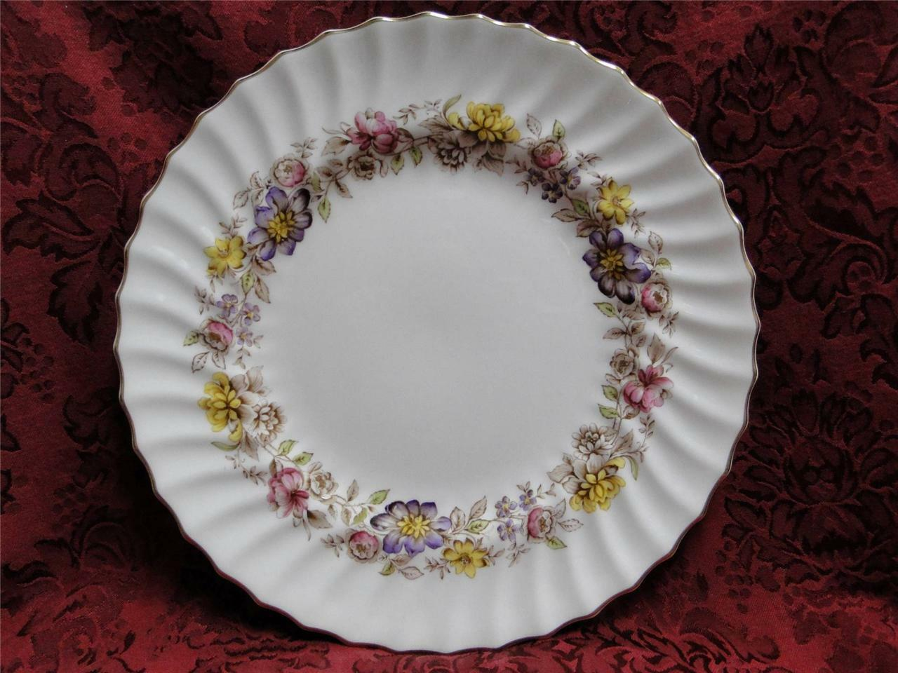 Royal Doulton Mayfair H4897, Multicolored Floral Band: Dinner Plate (s), 10.75""