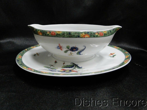 Raynaud Ceralene Louviers, Flowers, Green Band: Gravy w/ Attached Underplate