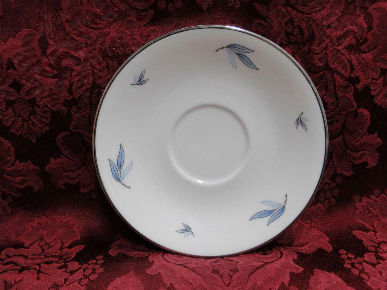 Syracuse Celeste, Blue Leaves on Rim, Platinum: Saucer (s), Cup Not Included