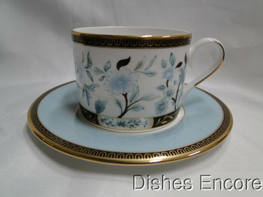 Lenox Palatial Garden, Marchesa, White w/ Brown, Blue, Gold: Cup & Saucer Set(s)
