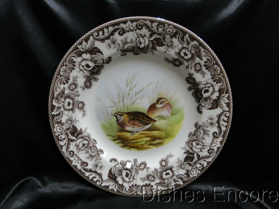 "Spode Woodland Quail Game Bird, England: NEW Dinner Plate (s), 10 3/4"", Box"