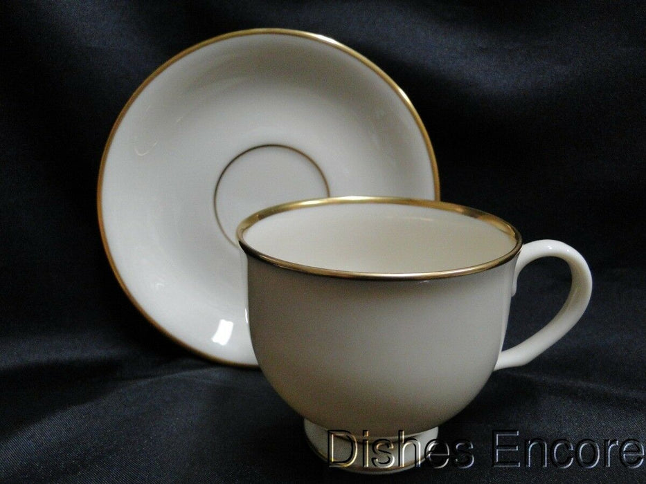 "Lenox Mansfield, Ivory with Gold Trim: Cup & Saucer Set (s) 2 7/8"" Straight Cup"