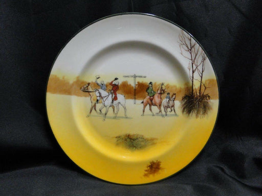 "Royal Doulton Hunting, 4 Horses & Riders Tipping Hats: Salad Plate, 8"", Scene 5b"