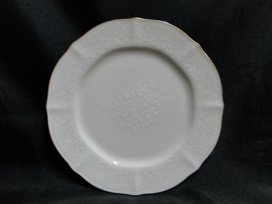 Noritake Chandon, 7306, White Floral on Ivory: Bread Plate (s), 7""