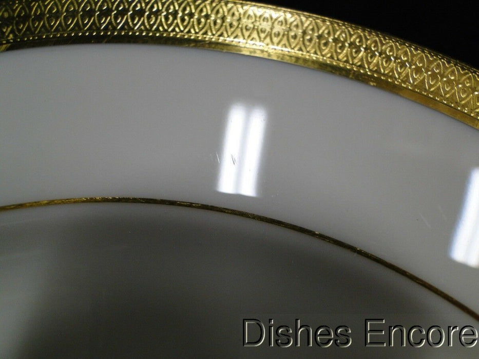 Lenox Lowell P-67 Gold Encrusted Band, Gold Backstamp: Salad Plate (s) 8 1/2""