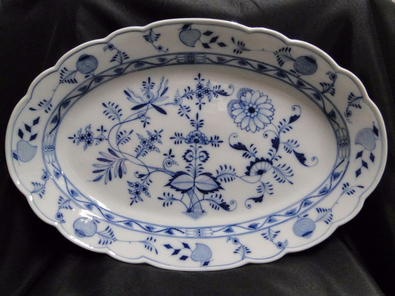 Teichert Meissen Blue Onion, Oval Mark: Oval Serving Platter AS IS 19""