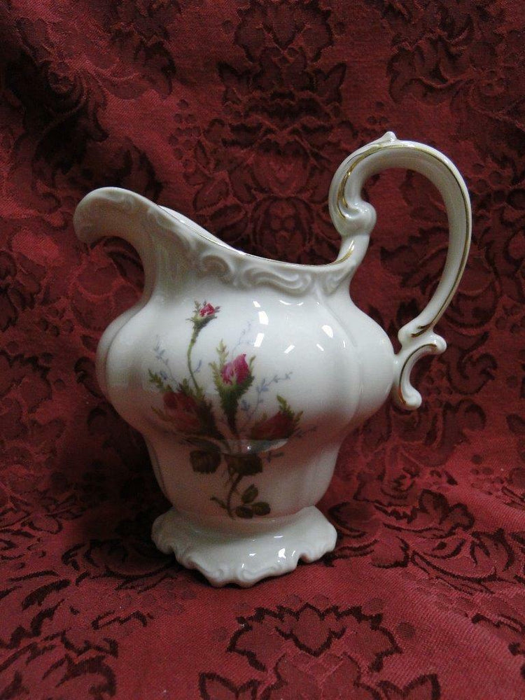 "Rosenthal Moss Rose, Pompadour, Ivory: Creamer / Cream Pitcher, 5 3/8"", Lighter"