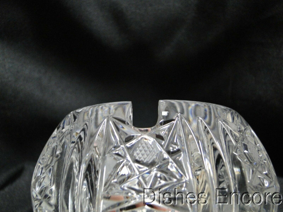 Clear, Cut Vertical Lines & Stars: Rose Bowl Shaped Sugar Bowl / Ashtray, MG#155