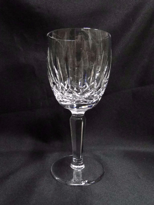 "Waterford Crystal Kildare, Vertical & Criss Cross Cuts: Water Goblet, 7"", Flaw"
