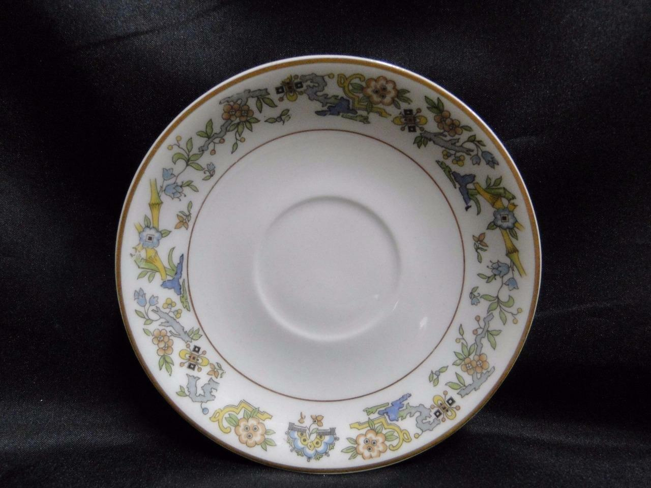 "Syracuse Oriental, Blue/Green/Tan Border, Gold Trim: 5 3/8"" Saucer (s) Only"