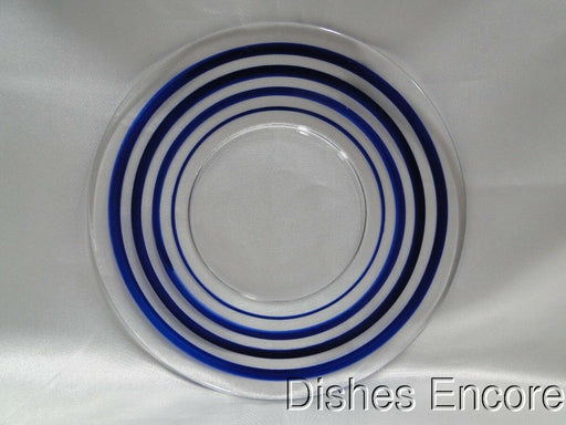 "Cobalt Stripes Glass Plate (s) 6 1/4"", Old Fiesta Colors"