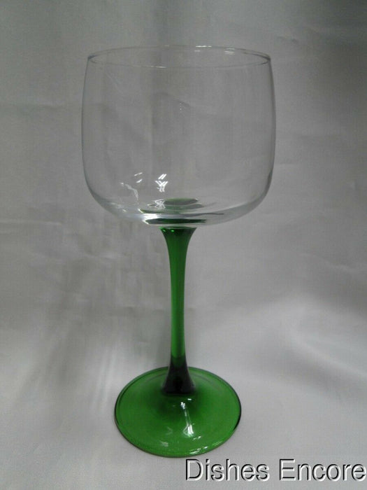 Cristal d'Arques / Durand Emerald, Green Stem and Foot: Wine Hock (s) 7""