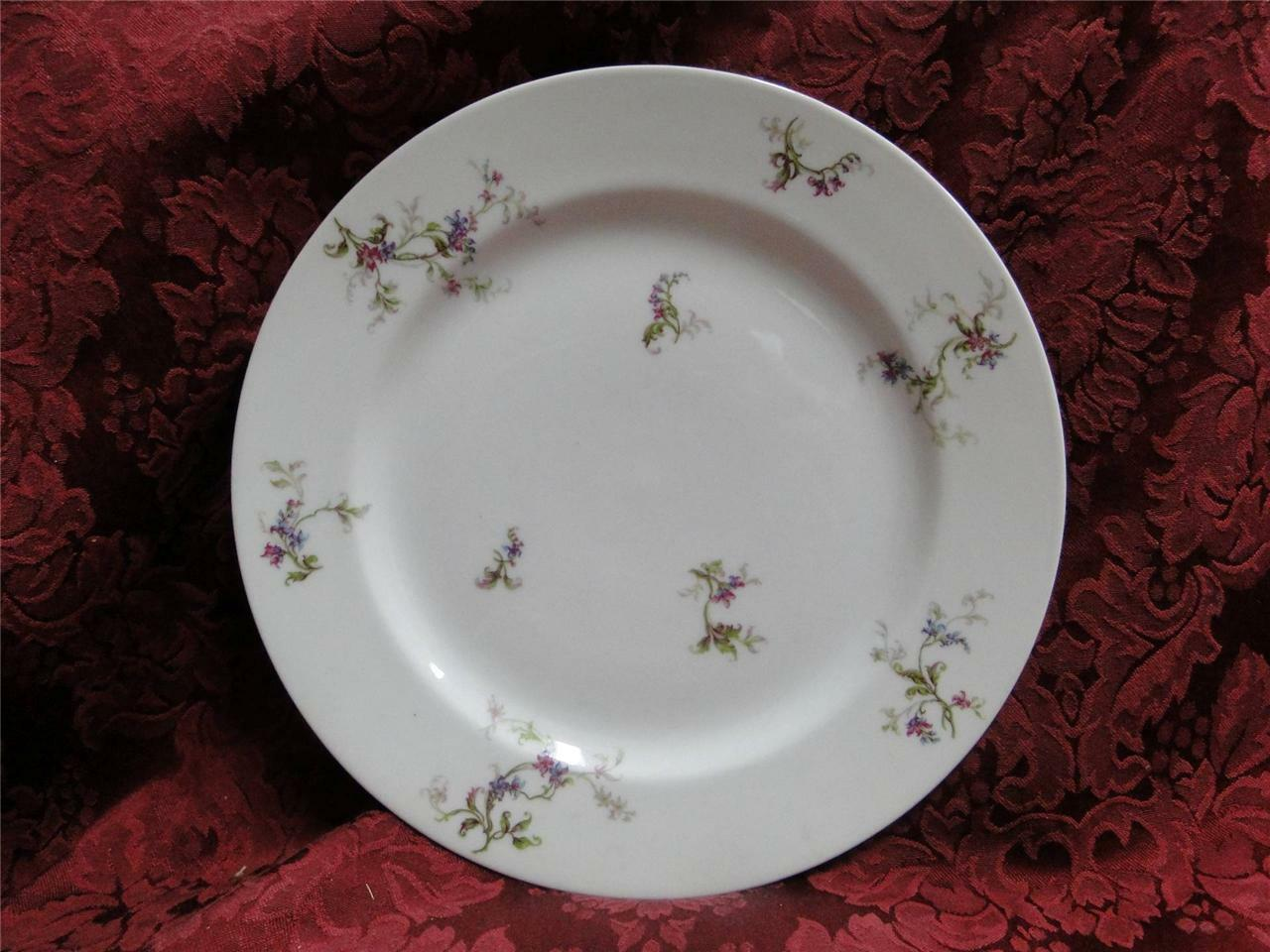 Haviland 1 (Limoges) Fuchsia Pink and Blue Floral: Dinner Plate (s)